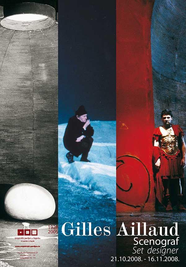 Plakat: Gilles Aillaud: Od slike do scene