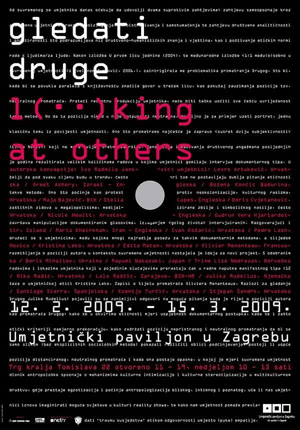 Plakat: Gledati druge