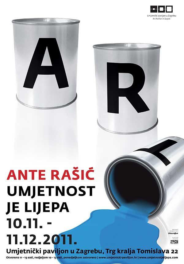 Plakat: Ante Rašić: Umjetnost je lijepa