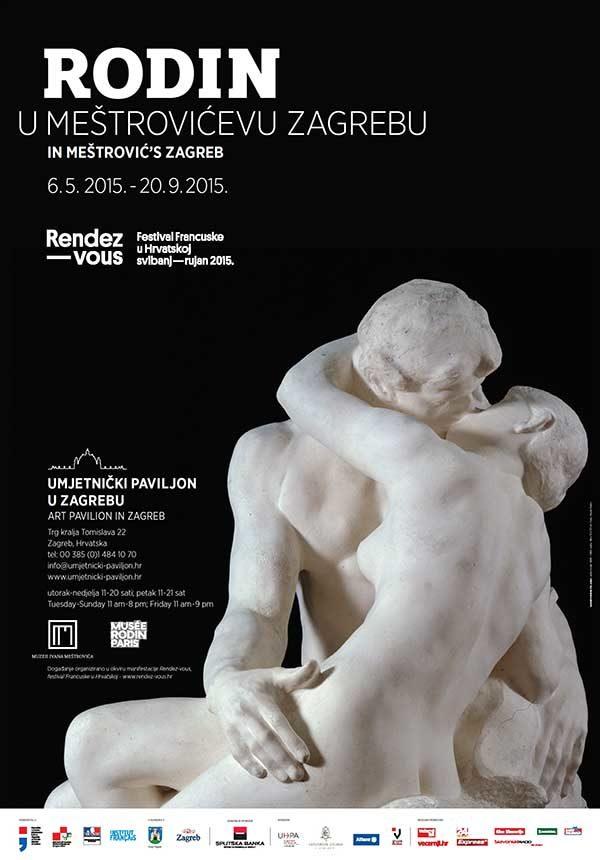 Plakat: Rodin u Meštrovićevu Zagrebu
