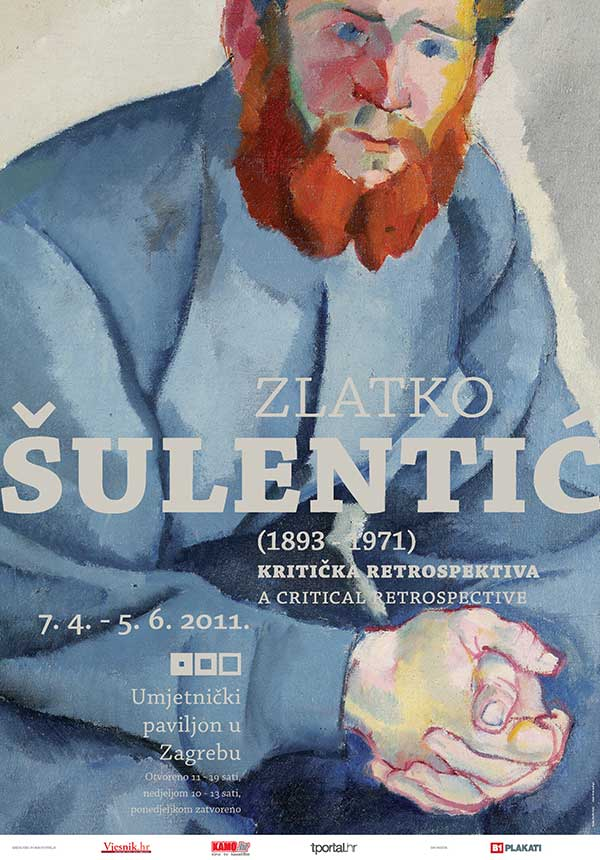 Plakat: Zlatko Šulentić: Kritička retrospektiva