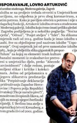 Lovro Artuković, Jutarnji list - Like, 1. 11. 2020.
