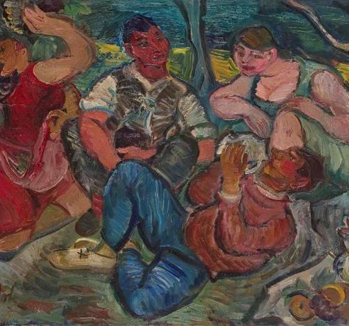 Ignjat Job - Za berbe, 1930-31.,100 vrhunskih djela hrvatskih umjetnika iz fundusa Narodnog muzaja u Beogradu, 2007.