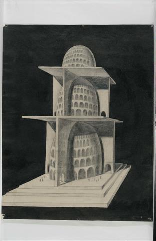 Josip Seissel - Nacrt za Zeniteum II,1924., 100 vrhunskih djela hrvatskih umjetnika iz fundusa Narodnog muzaja u Beogradu, 2007.