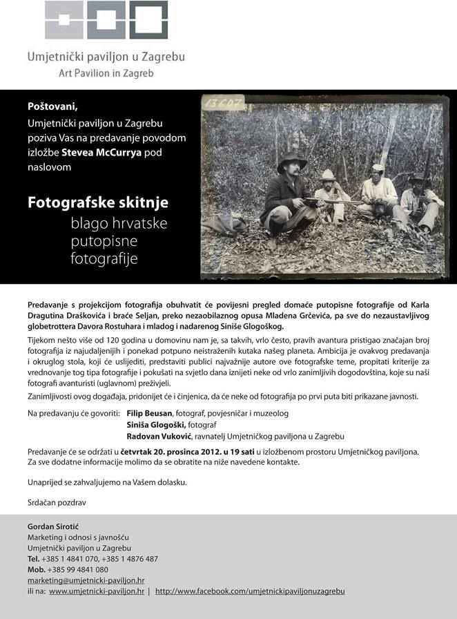 Predavanje Fotografske skitnje, Blago hrvatske putopisne fotografije