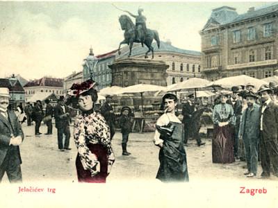 Trg bana Josipa Jelačića, oko 1904., Muzej grada Zagreba