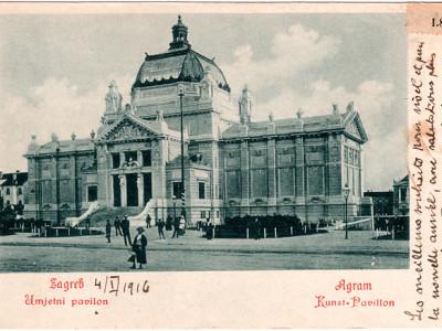 Umjetnički paviljon, oko 1915., Muzej za umjetnost i obrt, Zagreb