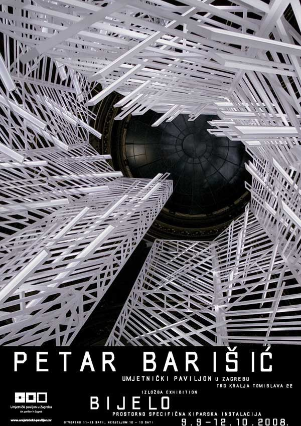 Plakat: Petar Barišić: Bijelo