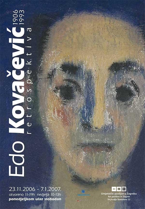 Plakat: Edo Kovačević: Retrospektiva