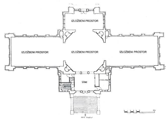 Umjetnički paviljon - tlocrt