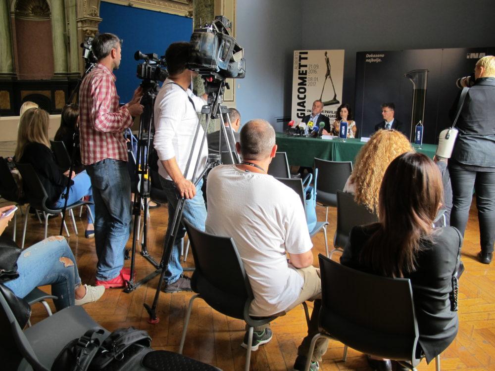 Konferencija za novinare povodom nadolazeće izložbe ALBERTA GIACOMETTIJA, u ponedjeljak, 19.9.2016. u 12 sati