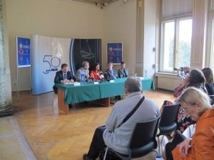 Konferencija za novinare povodom izložbe Joana Miróa 17. rujna 2014.