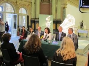 """Konferencija za novinare povodom izložbe Augusta Rodina """"Rodin u Meštovićevu Zagrebu"""", 4. svibnja 2015."""