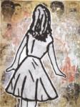 Donald Baechler - Djevojka straga, 2010