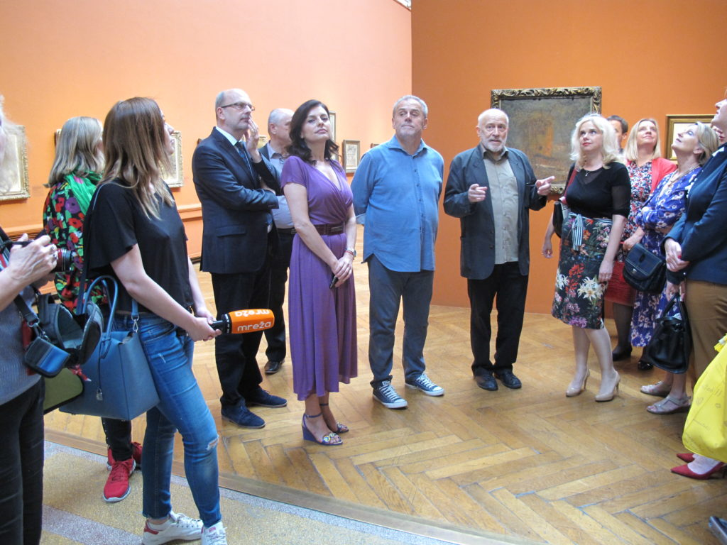 Gradonačelnik grada Zagreba Milan Bandić posjetio izložbu Emanuela Vidovića