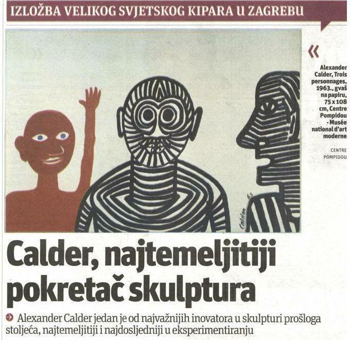 Alexander Calder: Magija skulpturalnog pokreta – objave iz medija