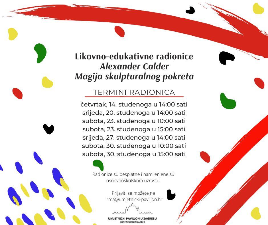 Likovno-edukativne radionice za školarce u studenom 2019.