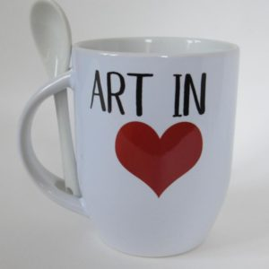 Mug Art in Heart