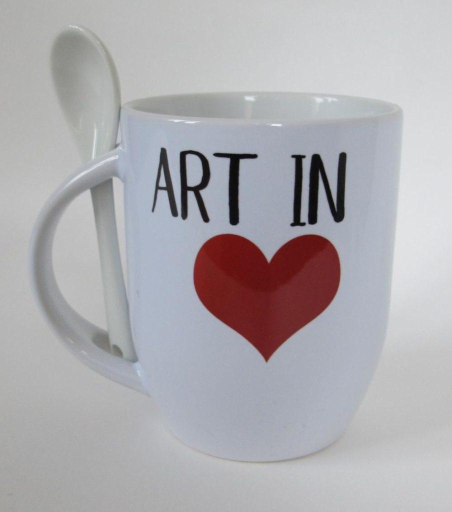 Mug Art in Heart