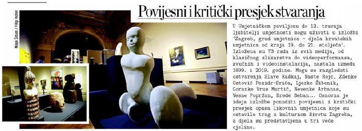 Zagreb, grad umjetnica – objave iz medija